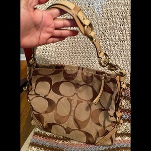 CLEAROUT Coach Signature Carly Hobo Bag